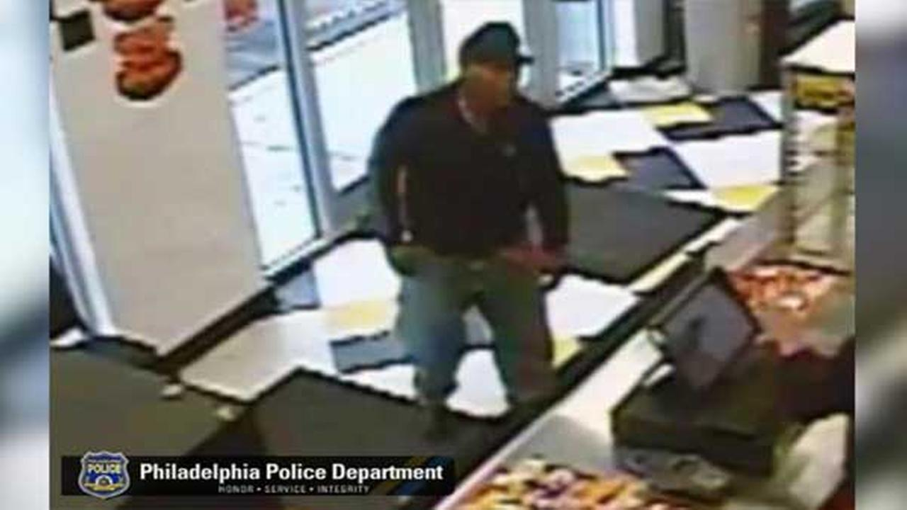 Armed suspect wanted for robbery at Little Carsars in Philadelphias Wynnefield section