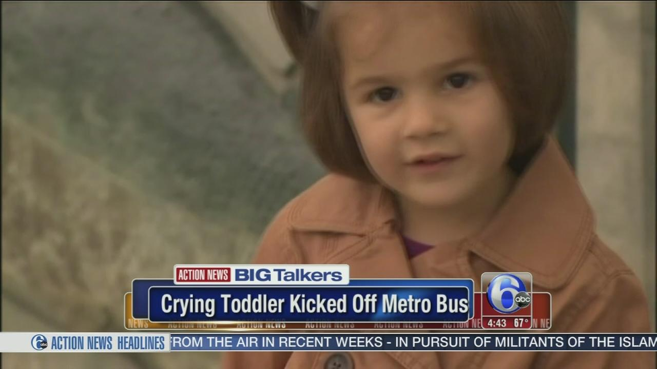 VIDEO: Bus driver kicks toddler to the curb