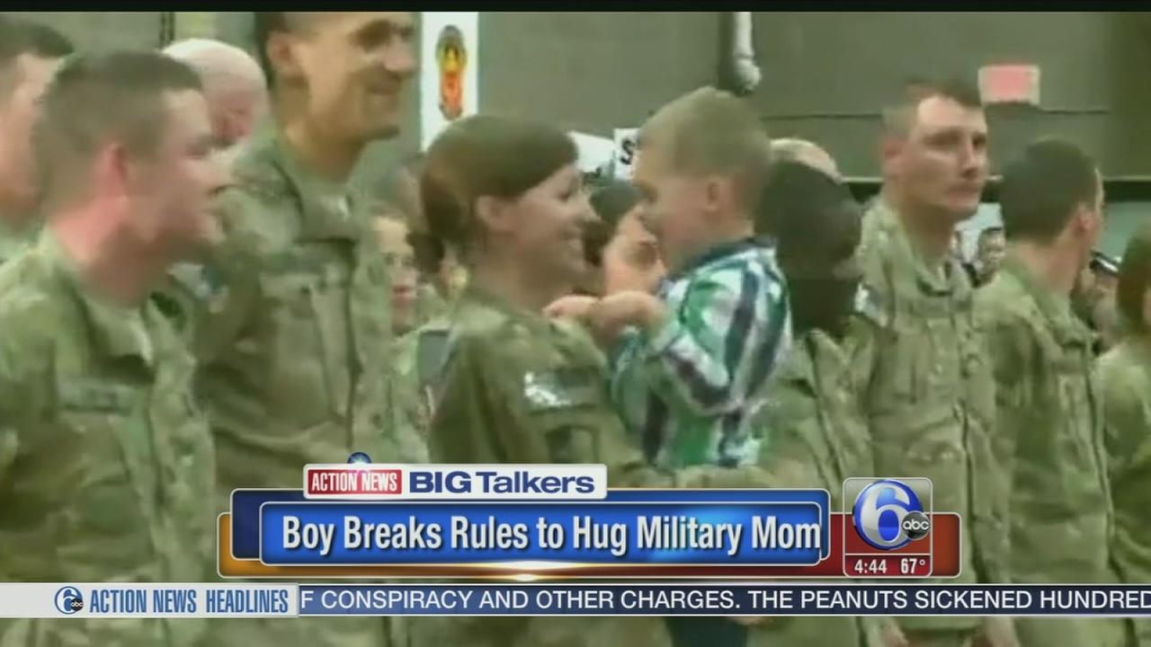 VIDEO: Toddler breaks rules, runs to military mom!