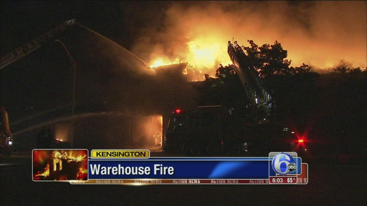 VIDEO: 3 injured in massive Kensington warehouse fire