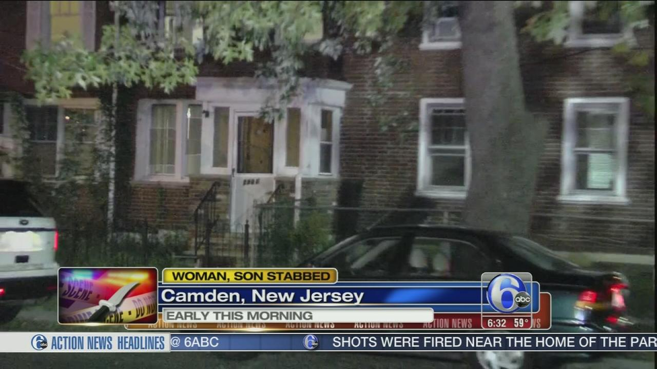 VIDEO: Mom, teen son stabbed in the neck in Camden