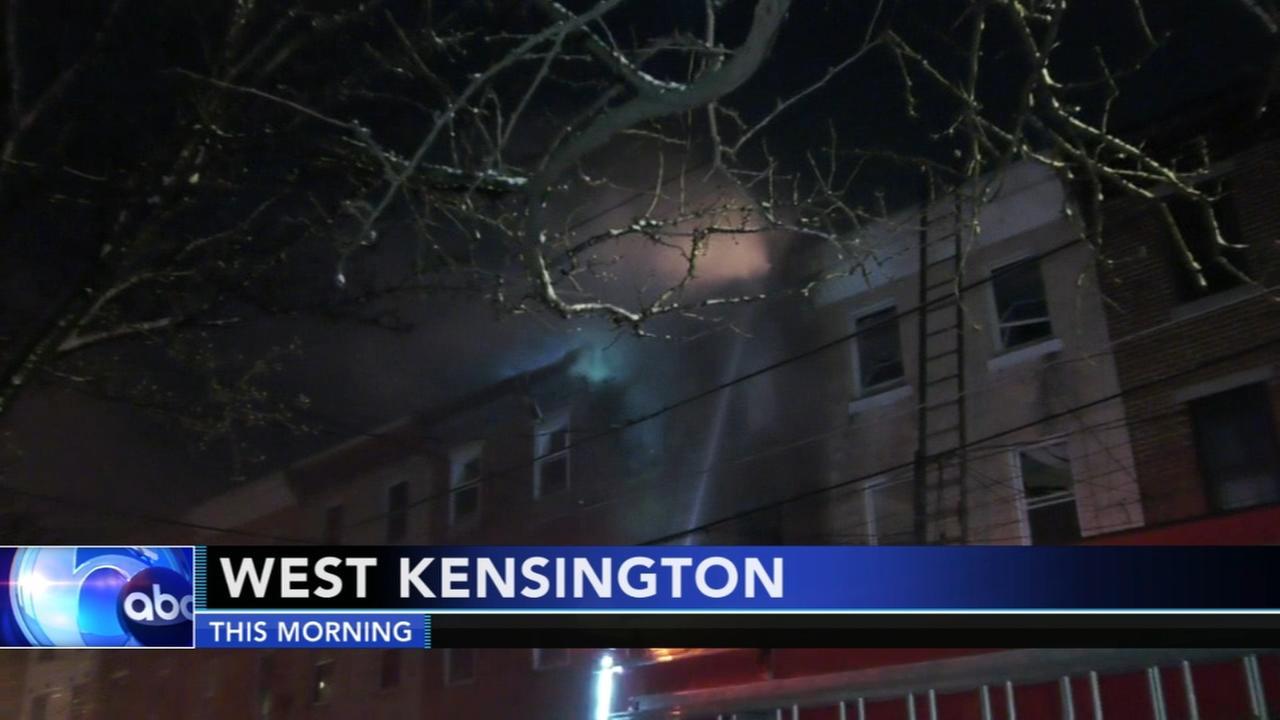 Firefighters battle house fire in West Kensington