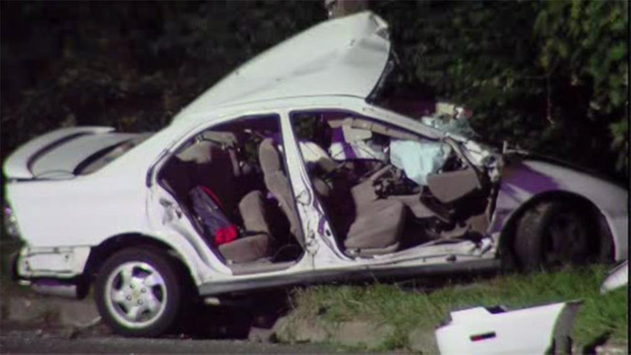 Man trapped in vehicle after crashing in Gloucester Twp., N.J.
