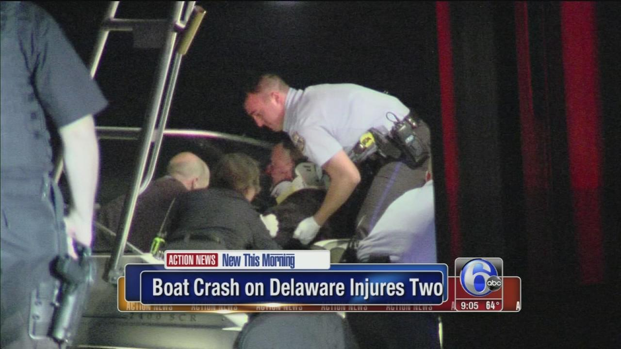VIDEO: 2 men hospitalized after boating accident on Delaware River