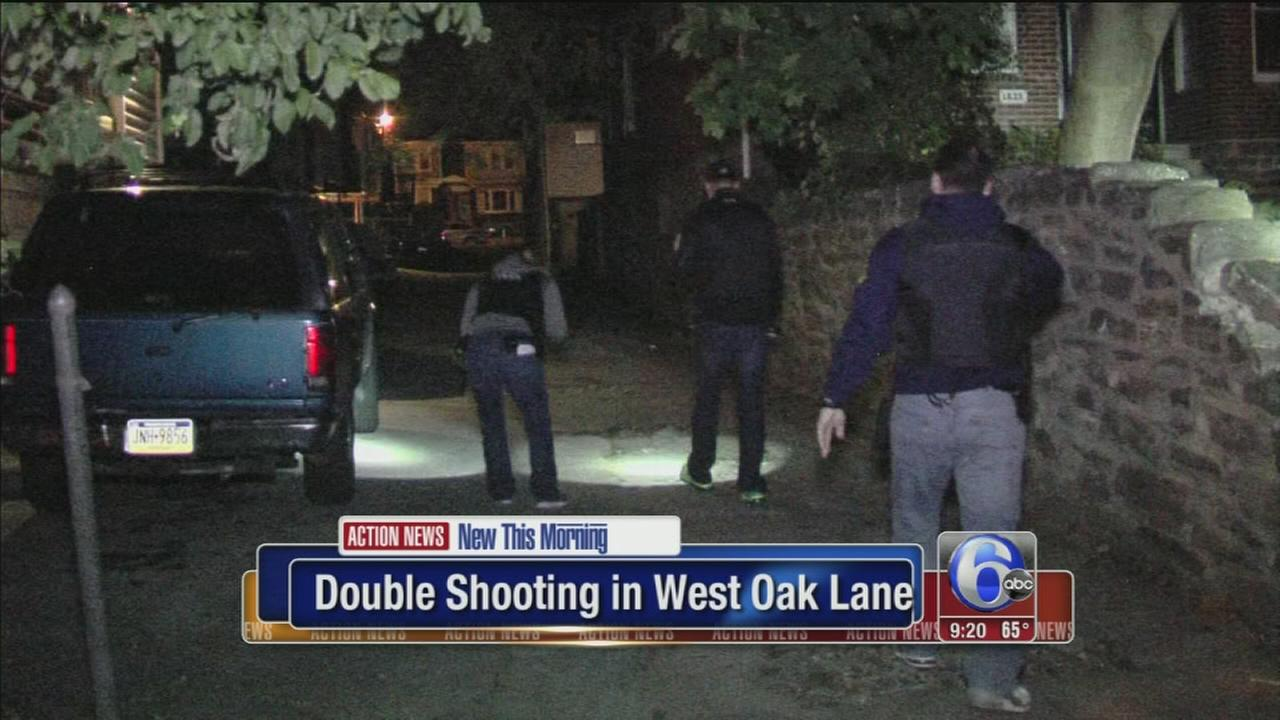 VIDEO: Police investigate double shooting in West Oak Lane