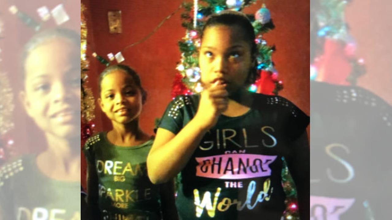9-year-old Anastasha Rodriguez and 11-year-old Gleisha Perez