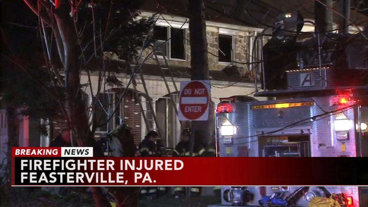 Firefighter inured battling Feasterville fire