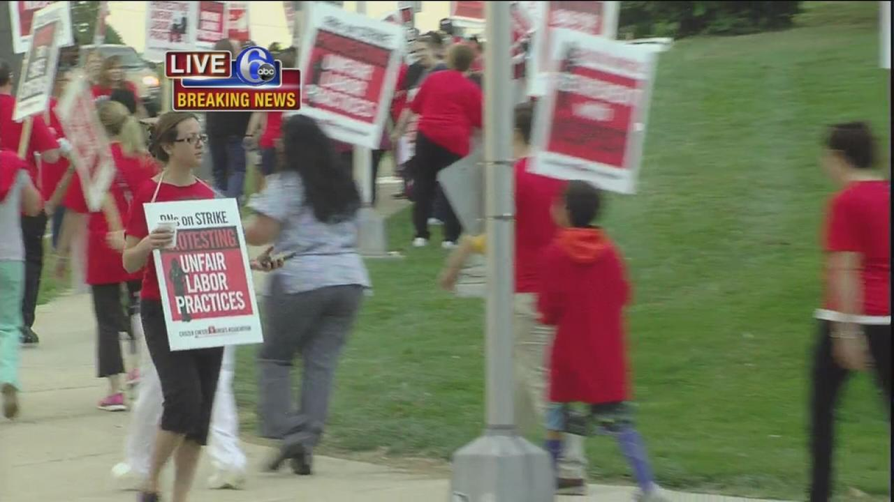 VIDEO: Nurses on strike