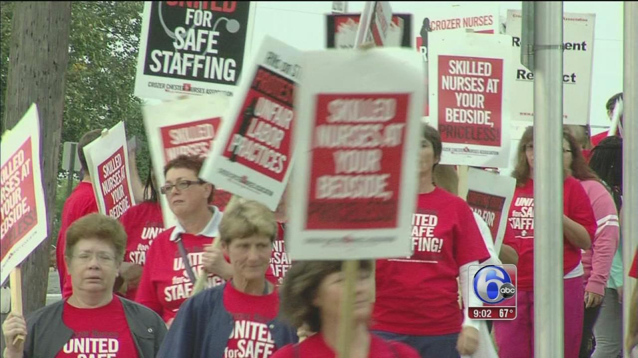 VIDEO: Crozer-Chester nurses on strike