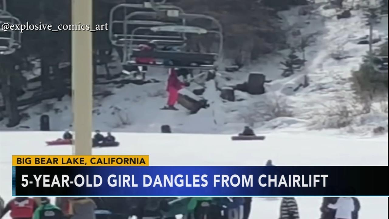 5-year-old girl dangles from chairlift