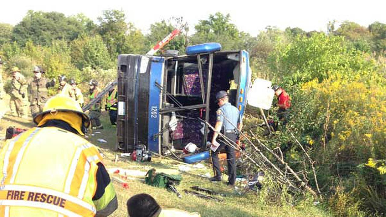 PHOTOS: Deadly tour bus crash in Delaware