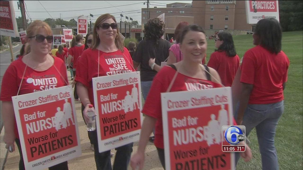 VIDEO: Nurses at Crozer-Chester Medical Center go on strike