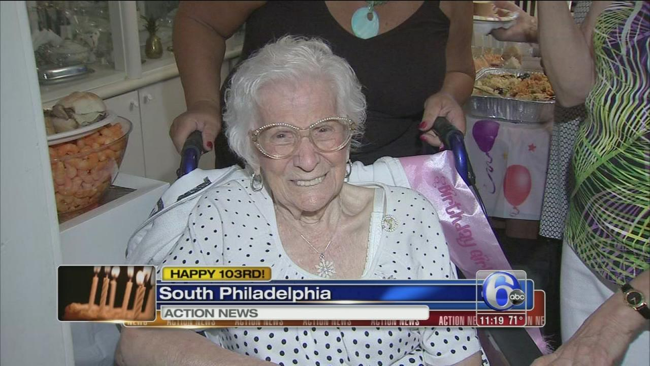 VIDEO: South Philly woman celebrated 103rd birthday!