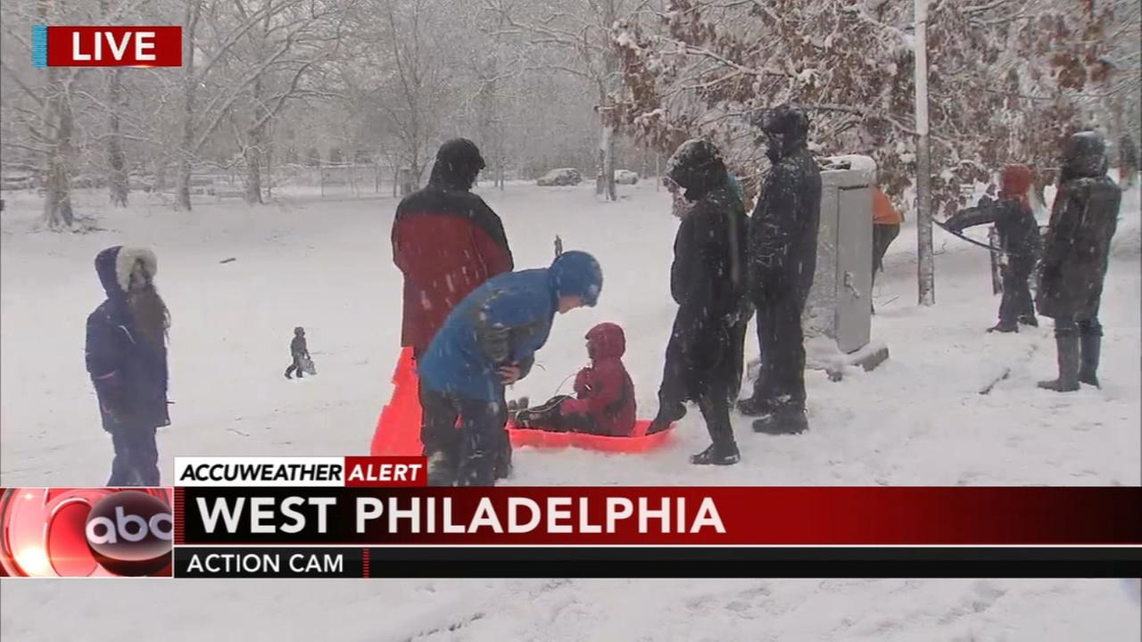 Kids, dogs have fun during the March noreaster