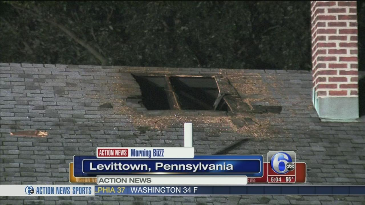 VIDEO: Flames force 5 people from Levittown, Pa. home