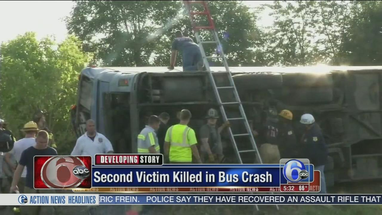 VIDEO: 2 women killed in Del. tour bus crash