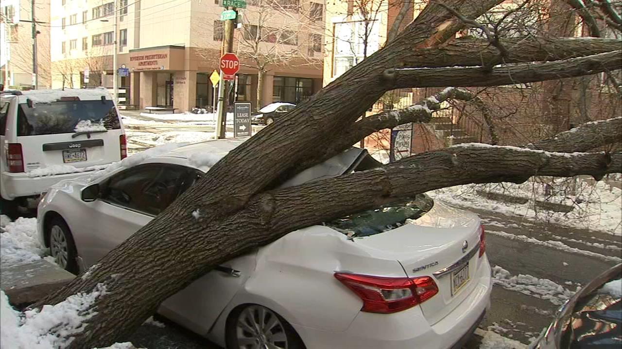 Cleanup work gets underway in Philadelphia