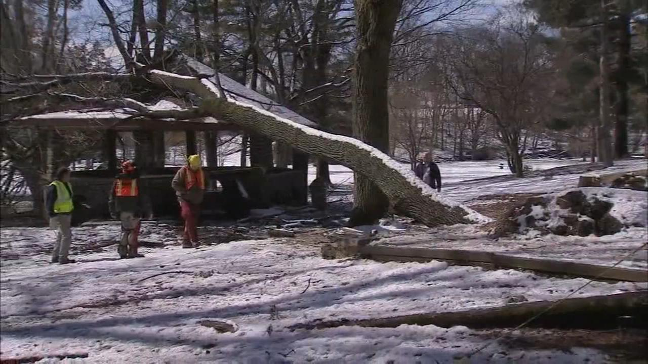 Cleanup continues following noreaster