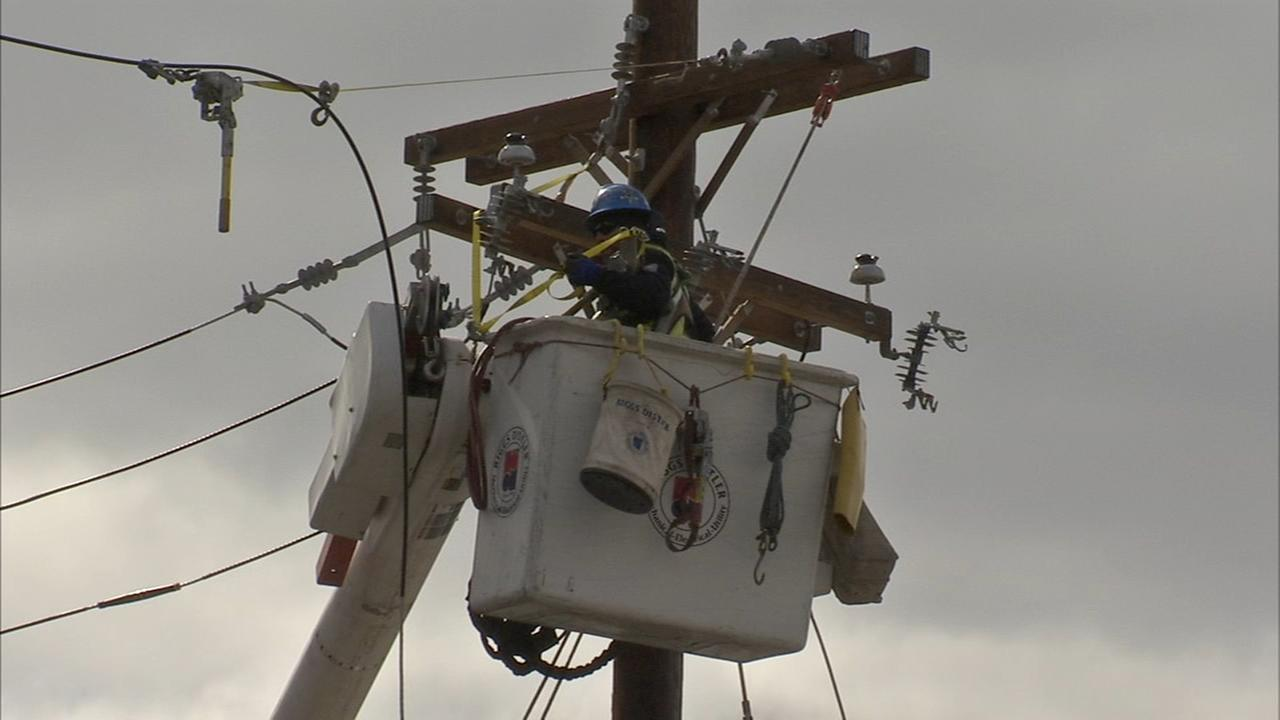 Crews continue to work to restore power