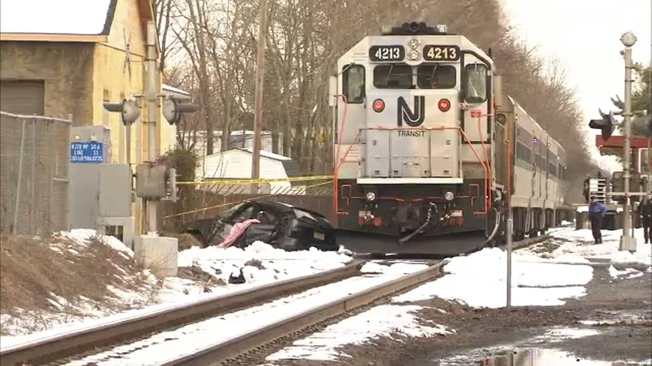 NJ Transit train hits vehicle in Atlantic County