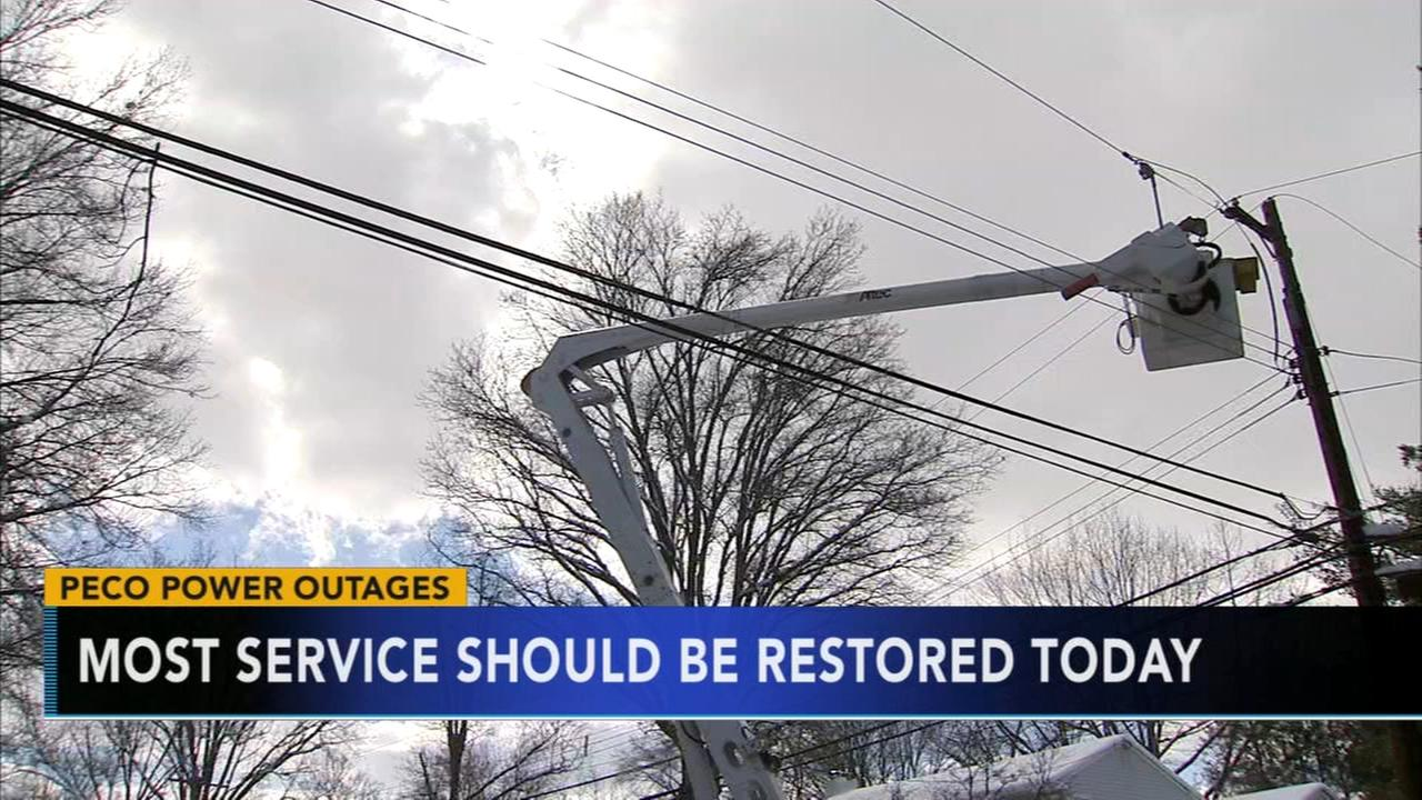 Crews continue to restore power after powerful noreasters