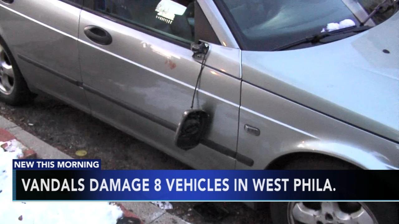Vandals damage 8 vehicles in West Philadelphia overnight