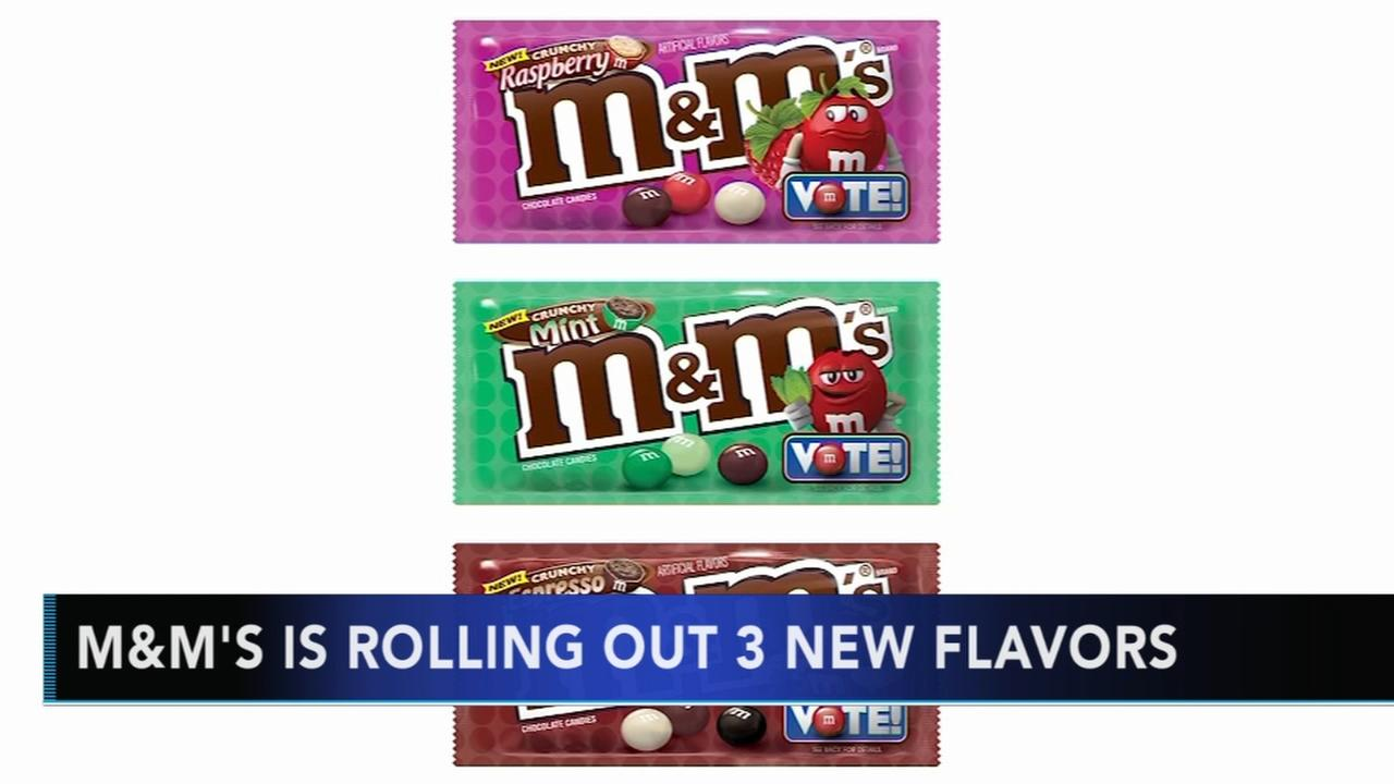 M&Ms introduces three new flavor contenders