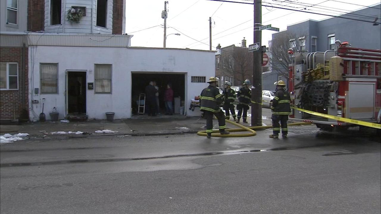 Adult, child injured in Port Richmond fire