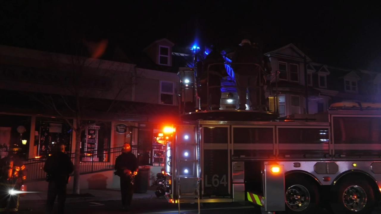 Fire damages buildings in West Reading, Pa.