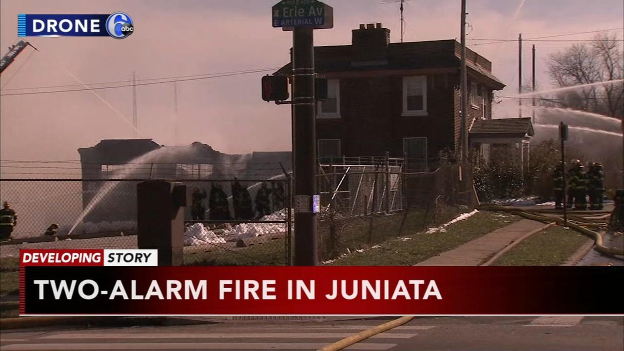 Two alarm fire in Juniata