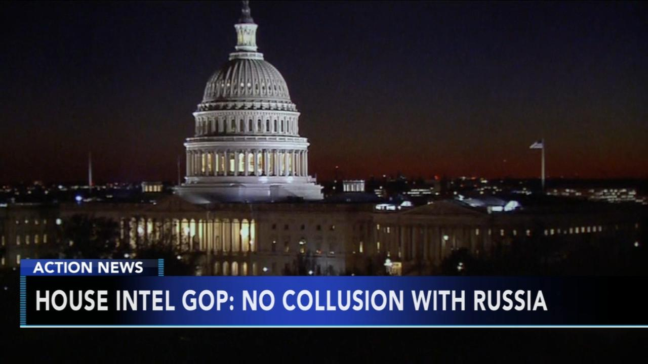 House panels initial report says no collusion with Russia
