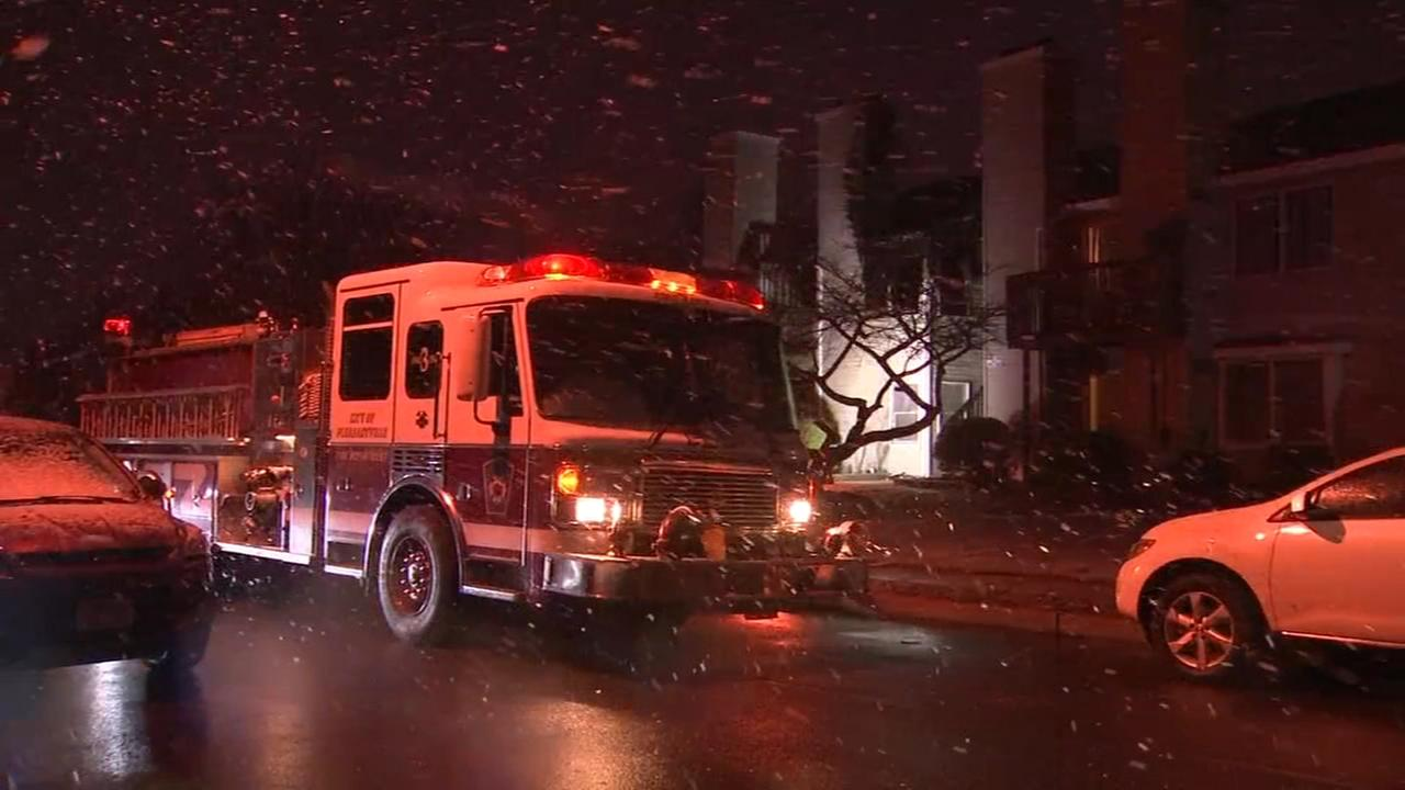 Fire damages apartments in Pleasantville