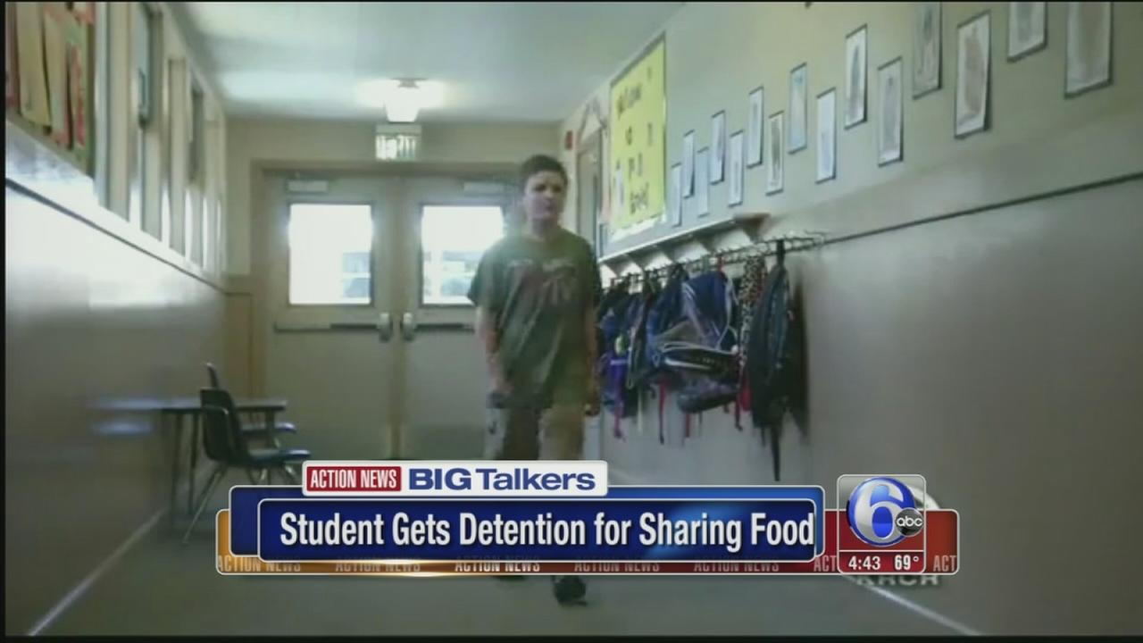 VIDEO: Student gets detention for sharing lunch