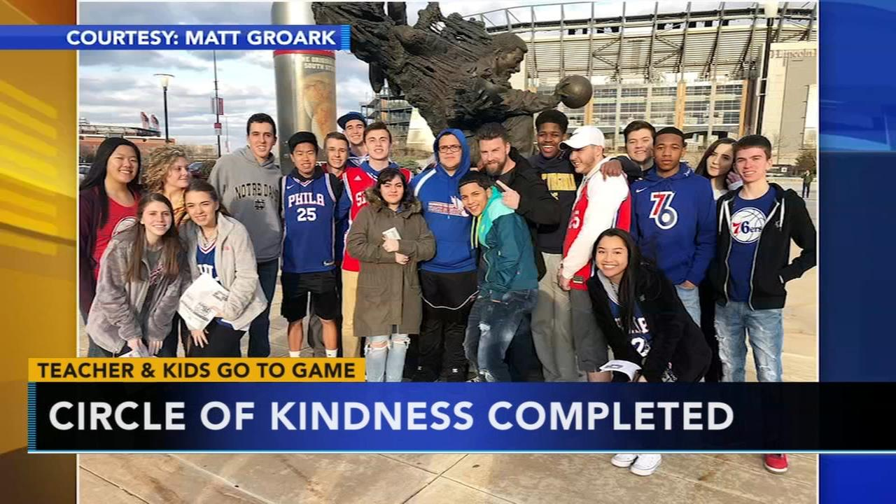 Sixers send teacher and students to game