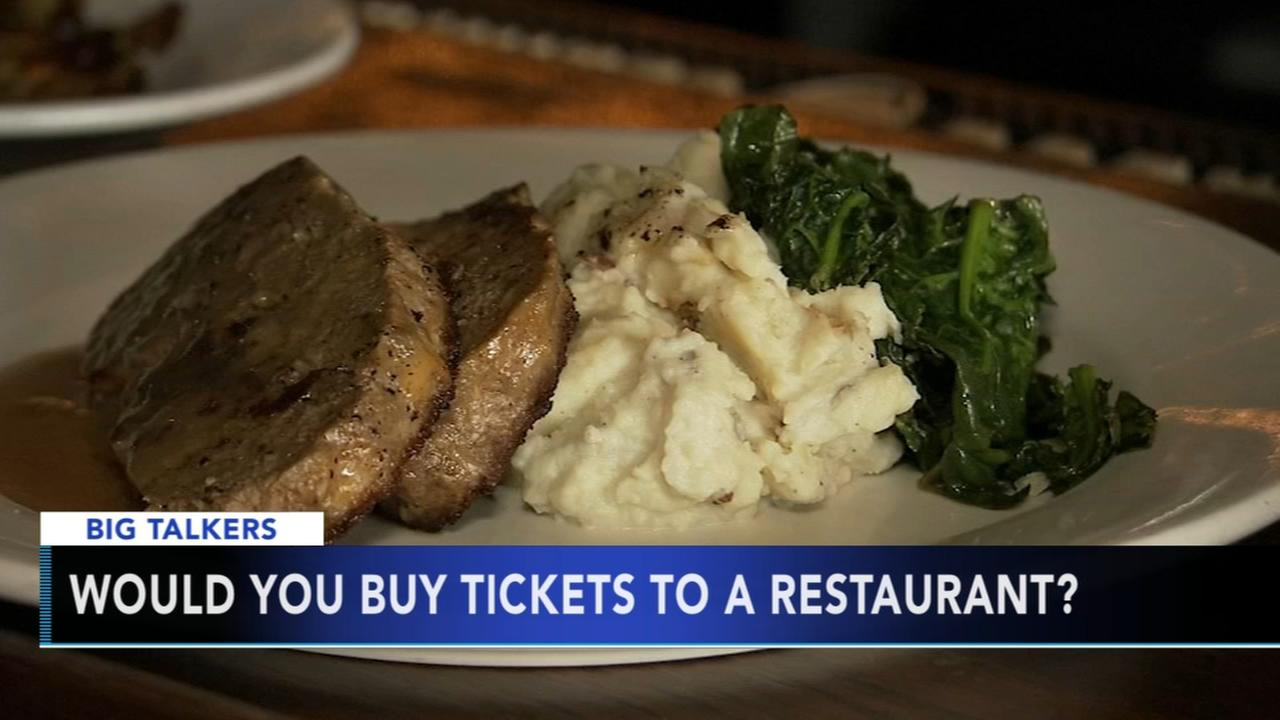 Would you buy tickets to a restaurant?