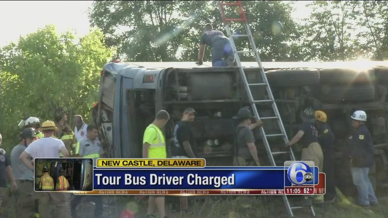 VIDEO: Tour bus driver charged