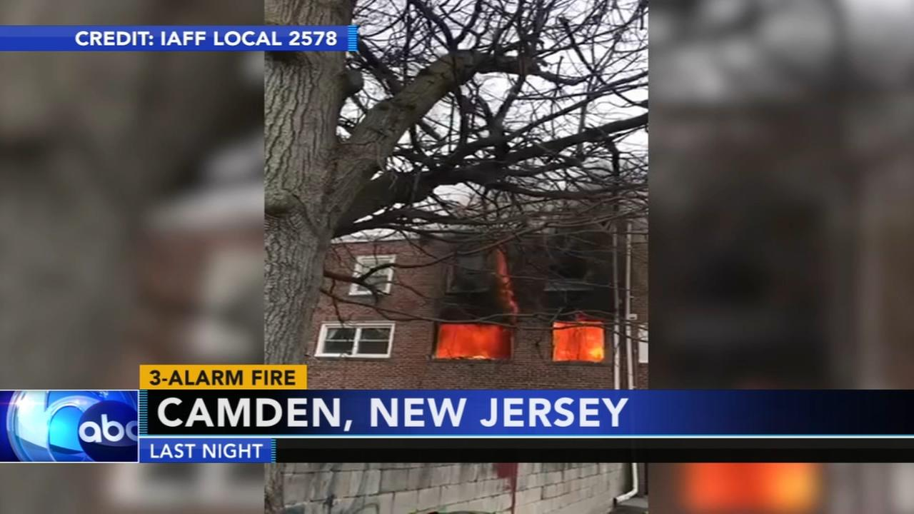 Firefighters battle 3-alarm Camden fire