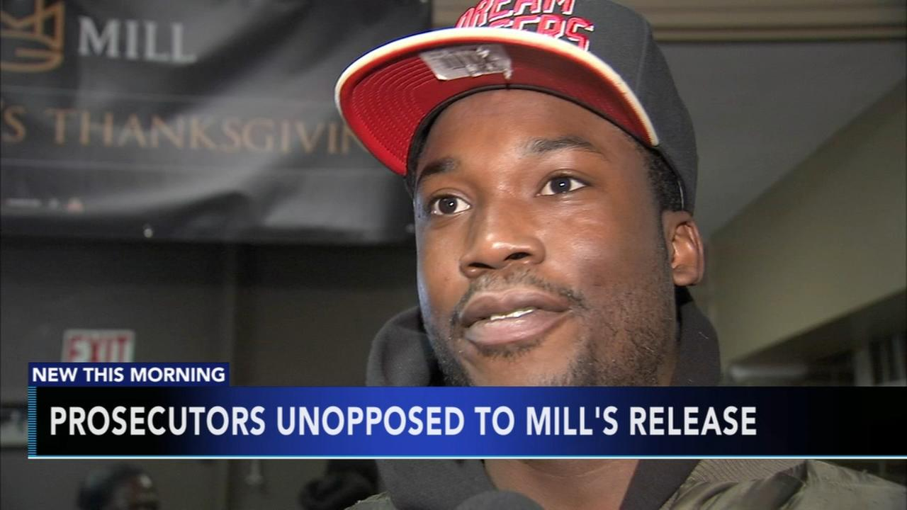 Prosecutors unopposed to Meek Mills release