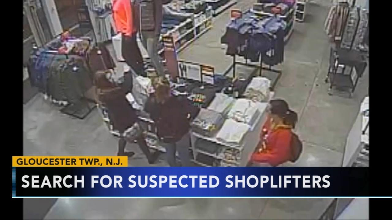 Shoplifters caught on camera in NJ