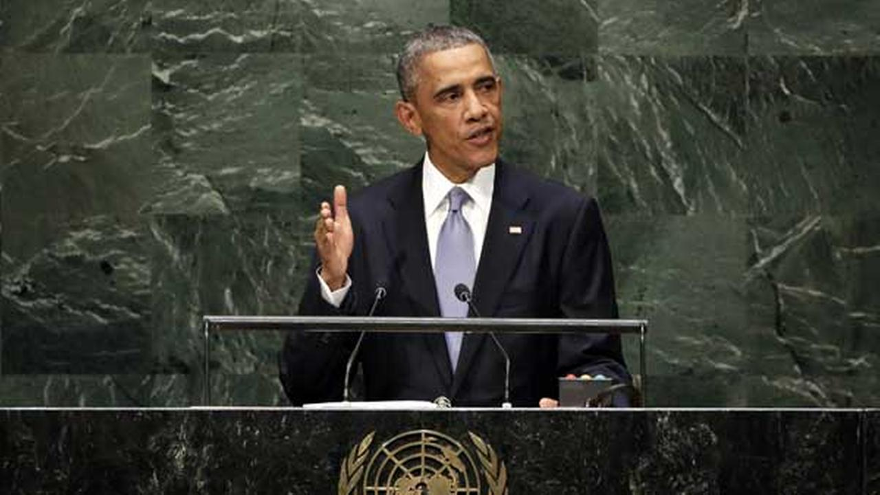 United States President Barack Obama addresses the 69th session of the United Nations General Assembly, at U.N. headquarters Wednesday, Sept. 24, 2014. (AP Photo/Richard Drew)