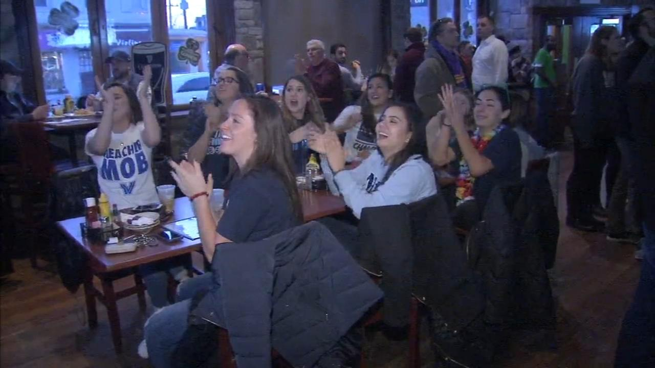 Villanova fans celebrate round 1 win