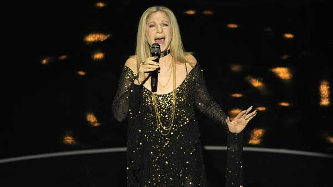 Actress/singer Barbra Streisand performs The Way We Were for the In Memoriam tribute during the Oscars at the Dolby Theatre on Sunday Feb. 24, 2013, in Los Angeles.