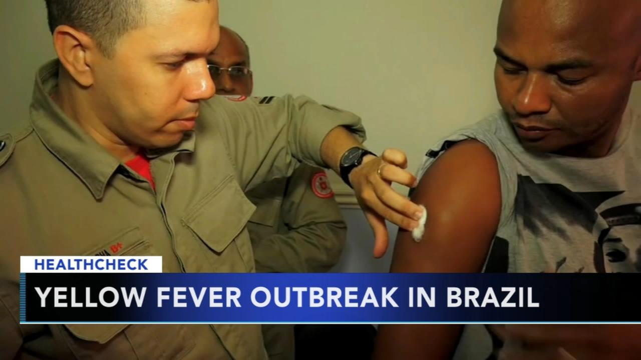 Yellow fever shots urged for Brazil travelers amid outbreak