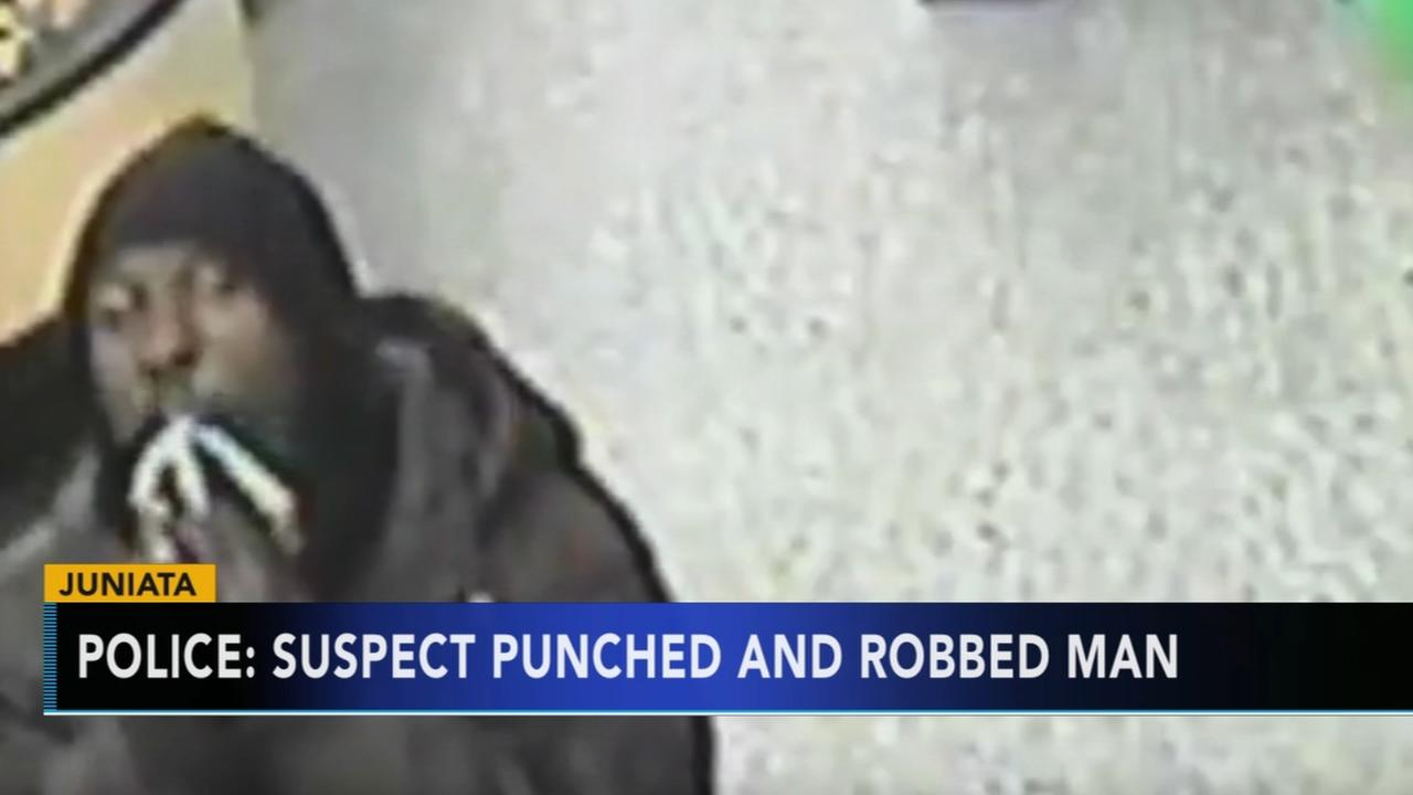 Police: Suspect sought for punching and robbing man in Juniata