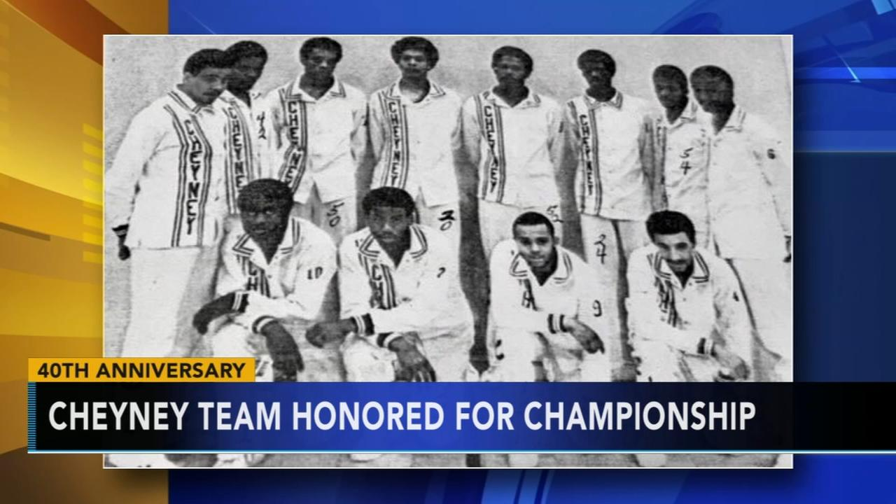 Cheyney University team honored on 40th Anniversary of championship