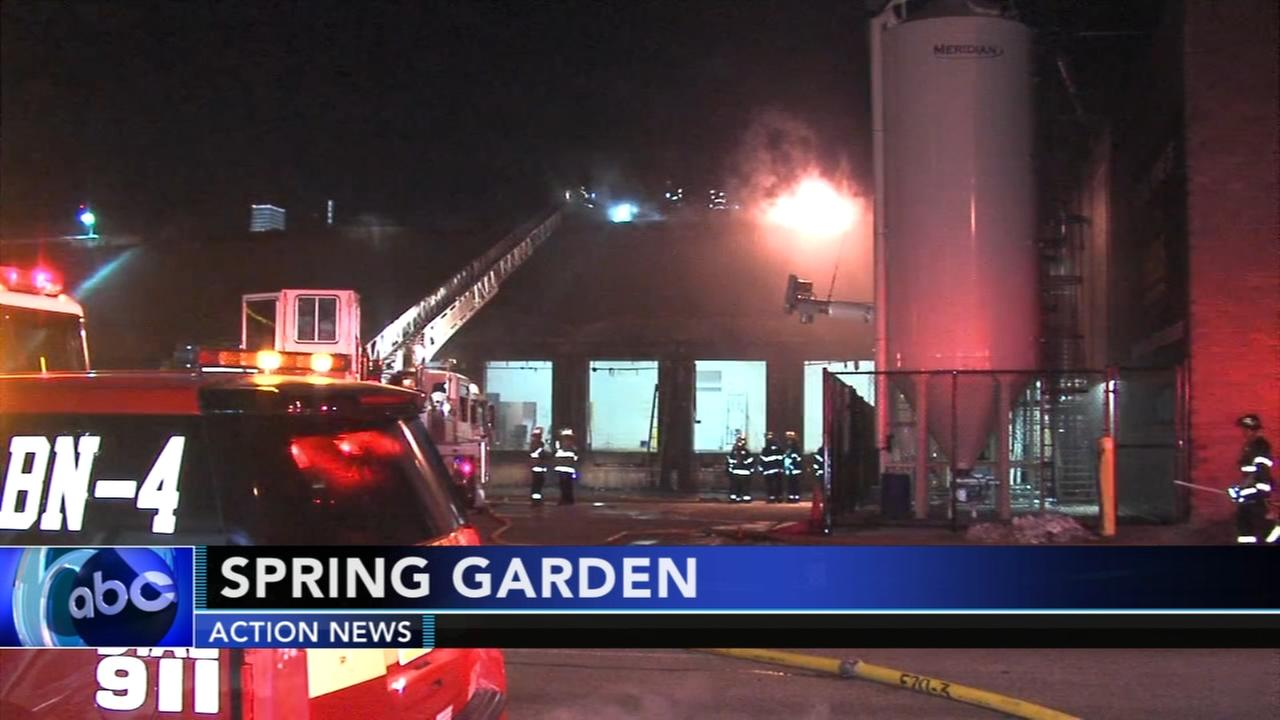 Firefighters battle blaze in Spring Garden