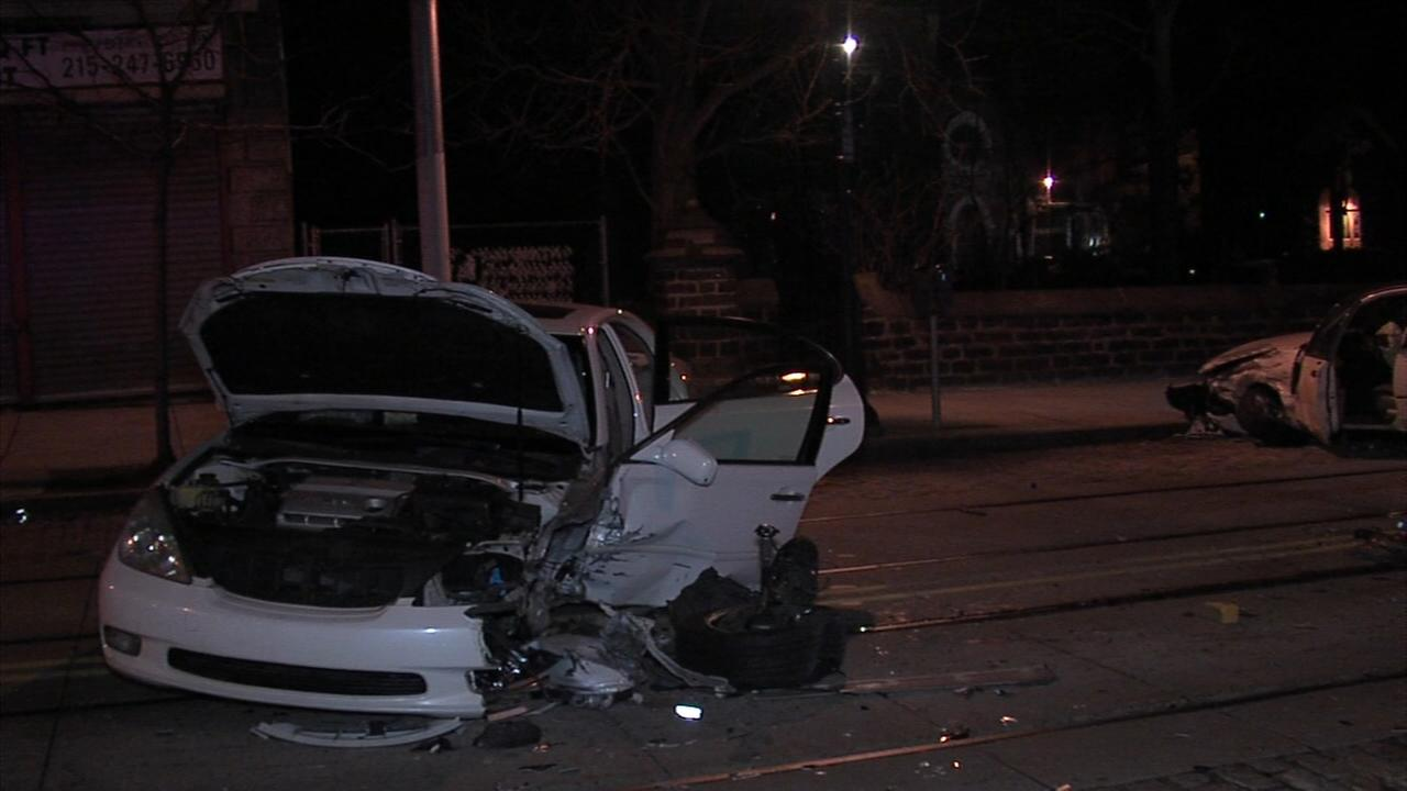 1 hospitalized after head on collision on Germantown Avenue