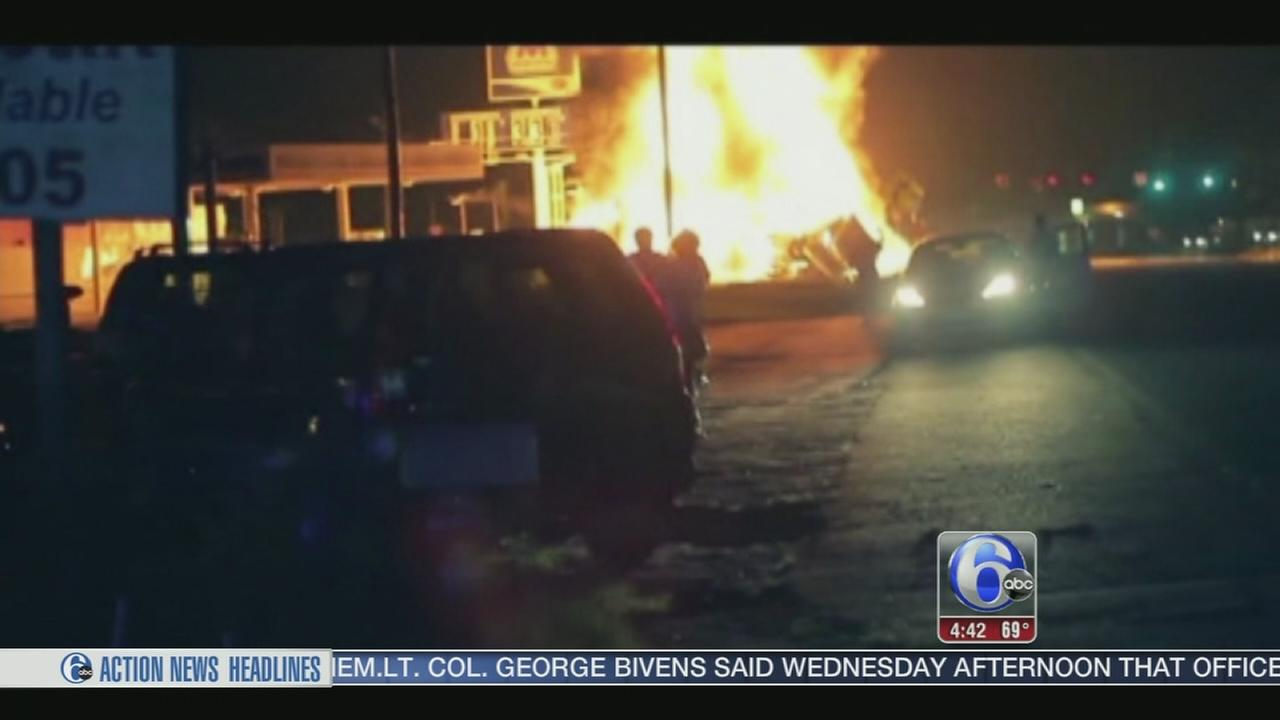 VIDEO: Drivers escapes death after tanker catches fire