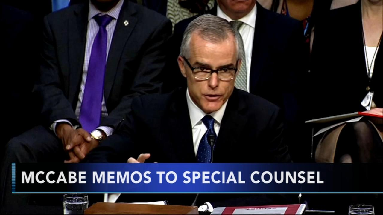 AP source: McCabe turns over to Mueller memos about Trump