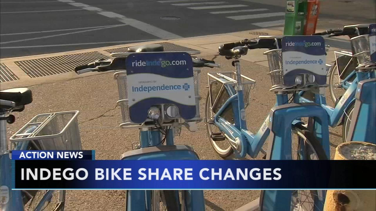 Changes for Indego bike share